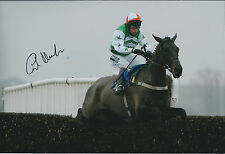 Carl LLEWELLYN Jockey SIGNED Autograph Photo AFTAL COA Lord of Illusion Newbury