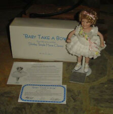 """Shilrey Temple from Danbury Mint-""""Baby Take A Bow"""" New in Box"""