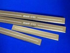 Golf GTi mk2 door sills etched logo stainless steel inc fixings vw golf gti