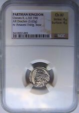OSROES II Parthian Kingdom 190 AD NGC CH XF Drachm Ancient Arsaces Persia Empire