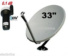33 QUALITY KU-BAND SATELLITE DISH ANTENNA + LINEAR LNB 10750 GALAXY 25 TELE 5 HD