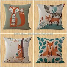 set of 4 cushion covers cartoon fox animal home interior decoration