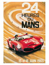 CLASSIC POSTER GRAND PRIX F1 24 Le Mans 24 Heures 1963 Ristampa sport motoristici A2