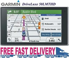 "New 2016 Garmin DriveLuxe 50LMTHD 5"" GPS Built-In Bluetooth Lifetime Map Updates"