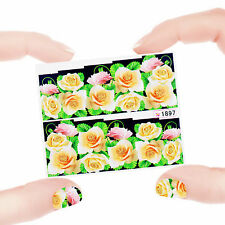 Nail Art Manicure Water Transfer Decal Stickers Flowers SY1897