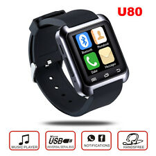 U80 Bluetooth Smart Watch/Reloj intelig Smartphone For IOS Android Mobile Phones