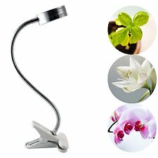 LED Plant Grow Light 7W Clip Desk Lamp Clamp 360 Degree For Hydroponic Garden