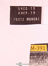Makino KGNCP-70, Vertical Milling Machine Parts Lists Manual