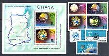 METEOROLOGIE-METEOROLOGICAL SATELITE GHANA ETHIOPIA  7  ST. + 1 BL.  **  PF   VF