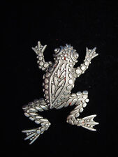 """JJ"" Jonette Jewelry Silver Pewter 'Textured FROG' Pin"