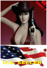 1/6 Angelababy woman head Independence Day black hair SDH001 for phicen hot toys