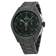 Rado HyperChrome Chronograph Black Dial Black Ceramic Mens Watch R32525152