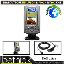 ECOSCANDAGLIO GPS - LOWRANCE HOOK 4 CHIRP CON TRASD. DOWNSCAN 83/200 455/800 kHz