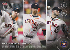 2016 Topps NOW 101 Astros SO Record vs Os Collin McHugh Lance McCullers ONLY 357