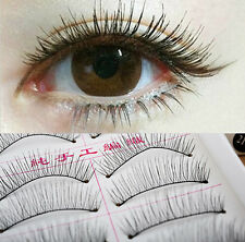 10 Pairs Makeup Cosmetic Handmade Natural Cross False Eyelashes Long Eye Lashes