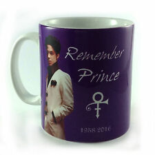 REMEMBER PRINCE 1958-2016 TRIBUTE MUG GIFT PRESENT FAN MUSIC SYMBOL PURPLE RAIN