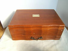 EUREKA WOOD SILVER FLATWARE CHEST BOX PACIFIC SILVERCLOTH WITH DRAWER