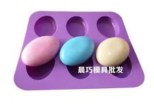 6- Oval Cake Mold Soap Mold Mold Silicone Mould For Candy Chocolate Cookie Craft