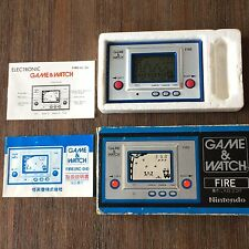 Nintendo Game and Watch Fire RC-04, boxed with English and Japanese instructions