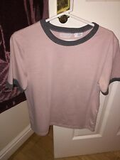 Urban Outfitters Cooperative Pale Pink and Grey Ringer T S