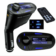 LCD Car Kit Bluetooth MP3 Player FM Transmitter Modulator SD MMC USB Remote P2