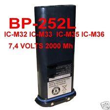 BP-252li PACCO BATTERIA COMPATIBILE ICOM NAUTICO IC -M31 IC-M33 7,2V 2000 mAh