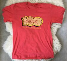 Vintage Coca Cola Red T Shirt 100 Anniversary Century Of Refreshment Small 34""