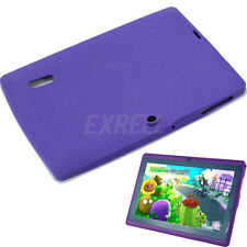 "Case Cover Custodia Silicone Viola per 7"" 7 Pollici Q88 Tablet PC Android"