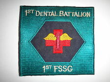 Vietnam War USMC 1st DENTAL Battalion 1st First  Service Support Group Patch