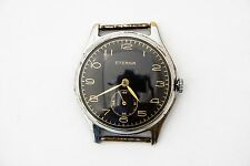VINTAGE SWISS MADE ETERNA WWII MILITARY MECHANICAL 19 JEWELS 1020 WATCH RARE