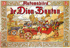 Automobile de Dion Bouton - Playing Card - French Car - A3 Art Poster Print