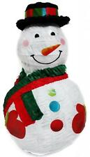 Jolly Snowman Pinata w/ Black Hat - Christmas Themed Party Supplies & Games
