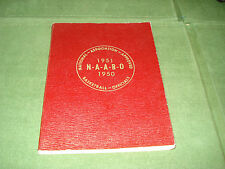 1950-51 COLLEGIATE BASKETBALL RULE BOOK w/ REFEREE LISTINGS BY STATE