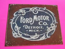 tin metal decor gas oil dealer garage repair shop advertising petroleum detroit