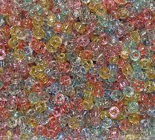 Multi Colors Glitter Sparkle 7x4mm mini Pony Beads 1000pc crafts kandi jewelry
