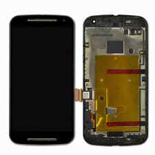 For Motorola MOTO G2 2nd Gen Black LCD Screen Touch Screen Digitizer With Frame