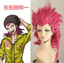Super Dangan-Ronpa 2 Kazuichi Souda Rose Rote Cosplay Perücken Anime Cos Wig