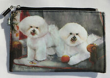 Bichon Frise Coin Purse Makeup Zippered Pouch Fully Lined Dogs New Puppies