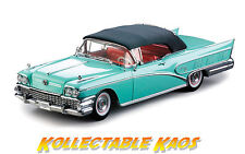 1:18 SunStar - 1958 Buick Limited Open Convertible - Green Mist NEW IN BOX