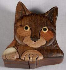 Wooden Puzzle Box-Kitty Cat-FREE SHIPPING