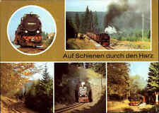Eisenbahn-Postkarte DDR Bahn Motive Harzquerbahn Harz Lokomotiven div. Strecken