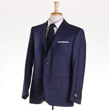 NWT $3495 BELVEST Slate Blue Soft-Woven Mini Birdseye 120s Wool Suit 40 S