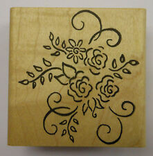 Rosevine Cluster Rubber Stamp by DeNami Design