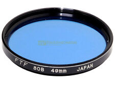 49mm. filtro di conversione 80b blu FTF. 80b filter.