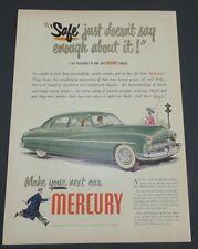 Original 1948 Print Ad 1949 MERCURY Make Your Next Car V-Type
