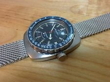Toothed Type Stainless Steel Bezel to Vostok  Amphibian -Tachymetre Blue Insert