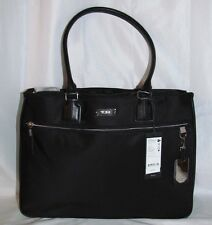 Tumi Womens Derby Business Tote Black Carry-on Luggage Boarding Bag Laptop Black
