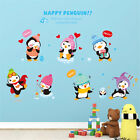 Happy Penguin Animals Tree Home Decor Removable Wall Stickers Decals Decoration