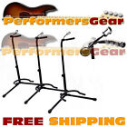 Deluxe Padded Acoustic, Electric, Bass Guitar Stand Adjustable Height 3-PACK NEW