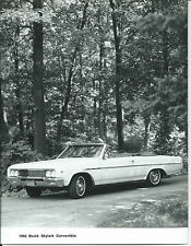 Buick Skylark Convertible 1965  Original Press Photograph Mint Condition